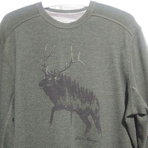 4/$25Eddie Bauer long sleeves thick knit t shirt S